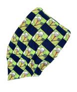 Nicole Miller Golf Tees Balls Greens Collage Silk Tie Necktie - $11.87