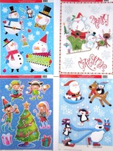 Christmas Reusable Window Clings ~ ( 4 Pack ) A - $12.17