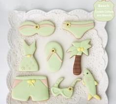 Beach Day Cookie Cutters & Stencils Set Bikini Sunglasses Dolphin Flip ... - $39.95
