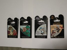 Disney Pin Set of 4 Parks 2012 Minnie Donald Mickey Cast Exclusive LE1000 WDW - $98.99