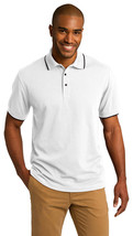 Port Authority K454 Tipped Polo Shirt - White/Jet Black - $24.38+