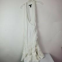 Lauren Ralph Lauren White Linen Summer Dress Wrap Ruffle Trim Sleeveless... - $69.28