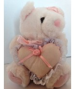 Plush Joelson Industries Incorporated Pink Valentines Teddy bear heart p... - $5.89
