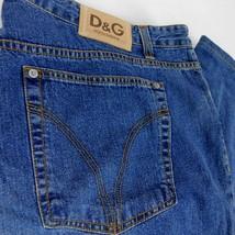 Dolce Gabbana Men Blue Denim Jeans 48 w 44 L 36 Button Fly Italy - $119.99