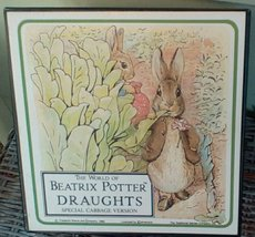 1988 Beatrix Potter Draughts Board Game.  Made in UK. Original Documents... - $47.00