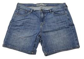 Old Navy Medium Wash The Sweetheart Bermuda Jeans Shorts Size 14 - $11.64
