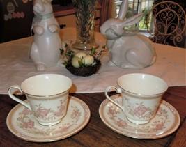 4pc Royal Doulton Fine Bone China Tea Cup & Saucer Lisette Romance Collection - $29.69