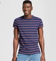 Goodfellow Blue & Red Stripe  Mens  T-Shirt  Size L  NWT  - $9.99