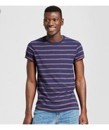 Goodfellow Blue & Red Stripe  Mens  T-Shirt  Size L  NWT  - $7.99