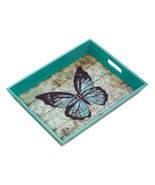 Blue Butterfly Serving Tray - $14.21
