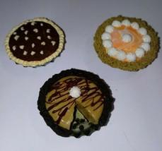 Ultimate Dessert Pie Magnet Set Brownie Peanut Butter Kitchen Accessory ... - $7.50