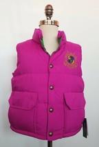 Ralph Lauren Girls Down Vest Reversible Pink Green Size M /8-10/  NWT - $59.99
