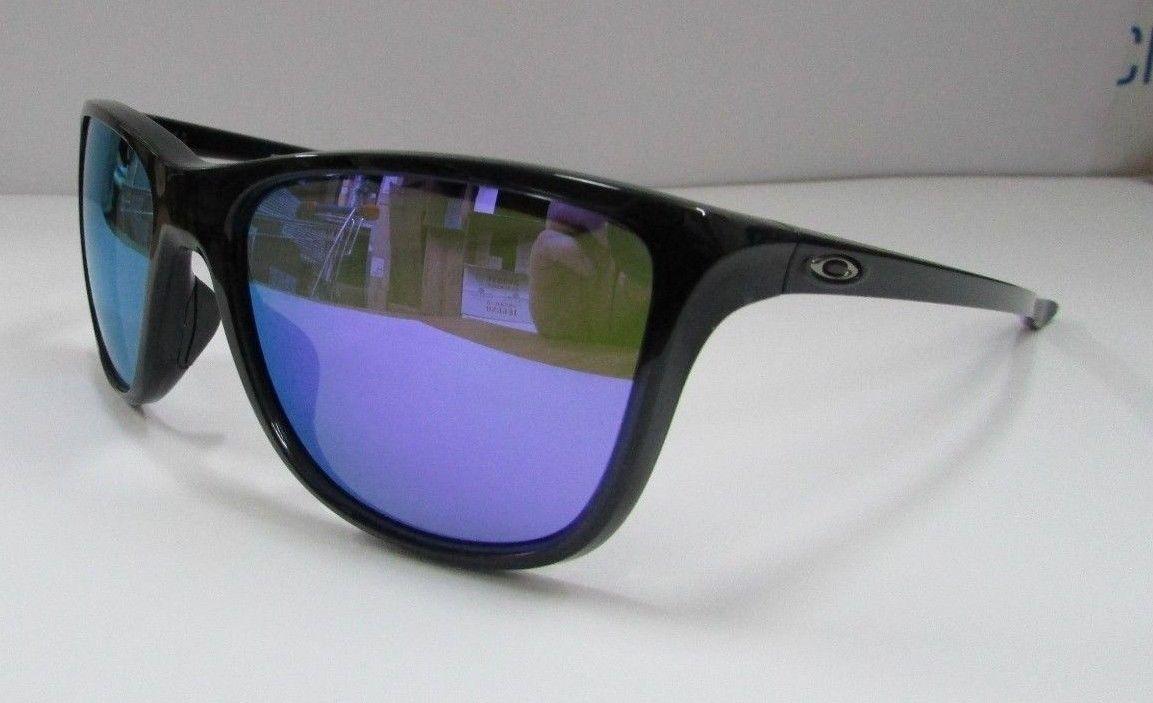 Oakley Sunglasses REVERIE OO9362-03/55 Black Frame Ink/Violet Iridium Lenses NEW for sale  USA