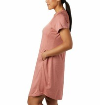NWT New Womens Columbia Place to Place Dark Coral Orange Dress M Pockets... - $89.99