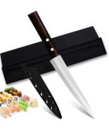 New Japanese Fillet Knife Stainless Steel Sashimi Salmon Sushi with sheath, box - $19.74