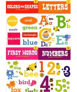 Kindergarten Educational Workbooks With Sticker Sheet - Set of 4 Books - v3 - $15.83