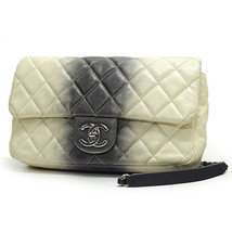 Chanel Gradation Stripe Matrasse Chain Shoulder Bag Caviar Skin Black Wh... - €2.125,03 EUR