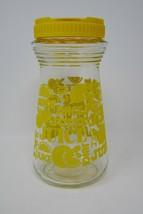 Vintage Yellow 24 oz Glass Carafe Pitcher Decanter Juice Jug - $12.34