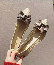 Ivory Lace Wedding Shoes/ Beige Lace Flat Shoes/ Off White Lace Flats Shoes - $38.00