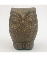 "Vintage Mid Century Modern Brass Owl Figurine 2 1/2"" Great Patina - $8.56"