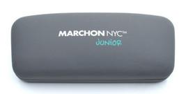 Marchon Nyc Junior Grey / Blue Eyewear Glasses case Hard shell - $8.99