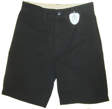 Gap Kids Uniform Shorts sz 16 Slim Black Flat Front GapShield NEW 976938 - $17.00
