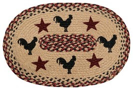 """Better Trends/ Pan Overseas Rooster 13"""" x 19"""" S/4 Placemat S/4, Burgundy - ₨1,960.87 INR"""