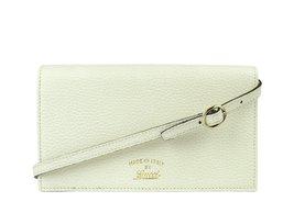 Gucci Swing Creamy White Leather Crossbody Clutch Wallet 368231 9022 - $885.00