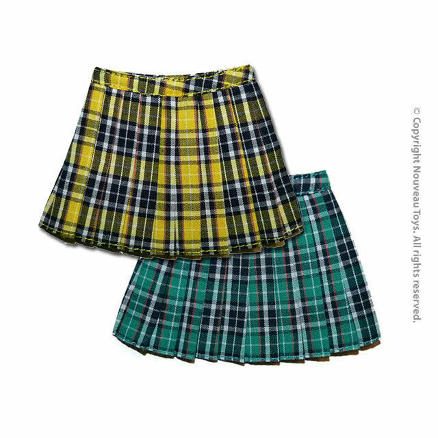 Primary image for 1/6 Scale Phicen, Hot Toys, NT Female Yellow & Green School Plaid Skirts Set