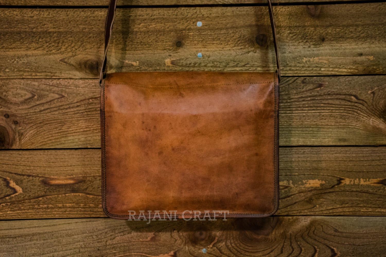 """15"""" Men's Genuine Leather Vintage Laptop Messenger Handmade Shoulder Bag Satchel"""