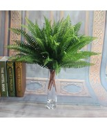Ificial fern bouquet silk plants fake persian leaves foliage for home party decoration thumbtall