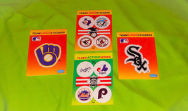 Vintage Lot Of 4 1991 Fleer MLB Team Logo Stickers Mint - $1.58