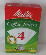 Melitta Super Premium #4 Cone Paper Coffee Filters White, 100 Count  *Se... - $7.99