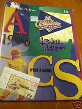Program-Yankees vs. Orioles 1996 Championship Series...FREE POSTAGE USA - $23.76