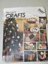 Vintage McCall's Crafts Primitive Christmas Holiday Xmas Pattern 13255 - $14.84