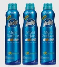 3 PLEDGE Multi Surface Cleaner 9.7 oz Cleans & Dusts Rainshower Scent 72416 New! - $27.29