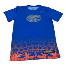 Florida Gator The Nike Tee Dri-Fit Blue Men Small 100% Polyester Auth Te... - $14.86