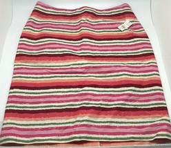 TALBOTS Pink Green Multicolor Striped Pencil Women's Skirt Petite 10p  - $17.81