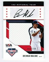 2019 Panini USA Baseball Stars & Stripes Jerseys /199 Brennan Malone Auto USA-HM - $12.00
