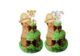 Safari Boy 2 Tier Diaper Cake Tiger Diaper Cake Elephant Diaper Cake Saf... - $55.00