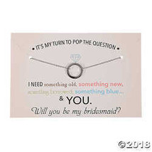 Pop the Question Bridesmaid Necklace with Card  - $4.34