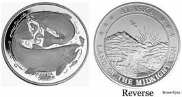 Alaska Mint King Salmon Medallion Proof 1Oz Boxed - $95.03