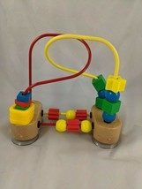 "Melissa & Doug Bead Maze Toy 7"" Wood Base Suction Cups - $7.95"