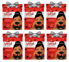 Yes To Tomatoes Detoxifying Charcoal Paper Mask - Lot of 6 Masks