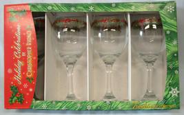Christopher Rado Holiday Celebrations 14 oz Goblet Gold Trim, Set of 4 - $48.40