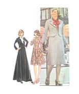 70s Vintage McCalls Sewing Pattern 4734 Misses Fit Flared Dress Jacket 1... - $9.95