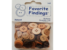 Blumenthal Lansing Co. Favorite Findings Flip Flop Buttons, 11 Count #1147