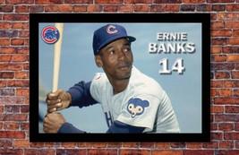 "Chicago Cubs Legends | Ernie Banks Poster | Chicago Cubs | 19"" wide x 13... - $14.95"
