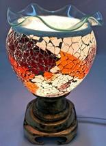 Electric Mosaic Fragrance Lamp/Oil Burner/Wax Warmer/Night Light t0301 F... - $25.73