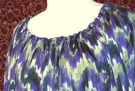 MICHAEL KORS purple polyester long sleeve blouse M (T47-01C8G) image 4